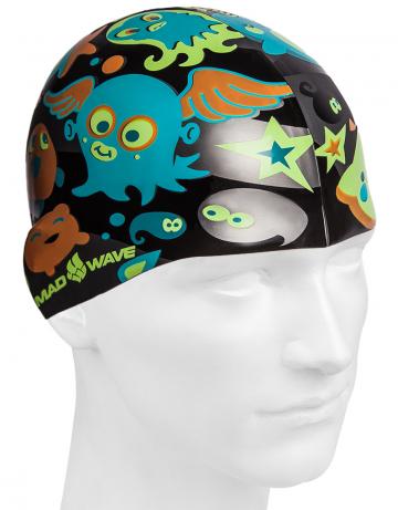 Силиконовая шапочка для плавания PLANKTONСиликоновые шапочки<br><br><br>Размер: None<br>Цвет: Черный