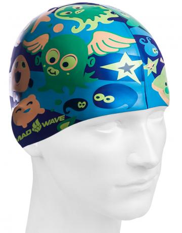 Силиконовая шапочка для плавания PLANKTONСиликоновые шапочки<br>Юниорская силиконовая шапочка Mad Wave PLANKTON  имеет классическую форму.  Выполненная из высококачественного мягкого силикона шапочка хорошо тянется, не повреждает волосы и не тянет их при снятии или надевании. Изделие обеспечивает полноценную защиту от влаги и хлора. Она сохраняет высокую эластичность и яркость на протяжении всего срока службы.<br><br>Цвет: Синий