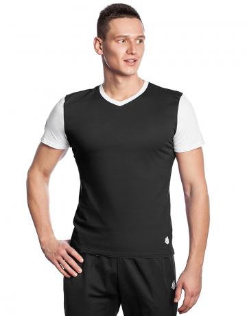 Спортивная футболка PRO Men T-shirtФутболки<br>Мужская футболка с коротким рукавом. V-образный вырез горловины. Приталенный силуэт.<br><br>Размер INT: L<br>Цвет: Черный