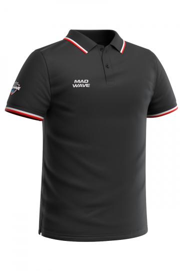 Спортивная футболка SOLIDS Men PoloФутболки<br>Мужская футболка-поло с коротким рукавом. Приталенный силуэт.<br><br>Размер INT: L<br>Цвет: Черный