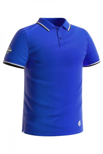 Спортивная футболка SOLIDS Men PoloФутболки<br>Мужская футболка-поло с коротким рукавом. Приталенный силуэт.<br><br>Размер INT: M<br>Цвет: Синий