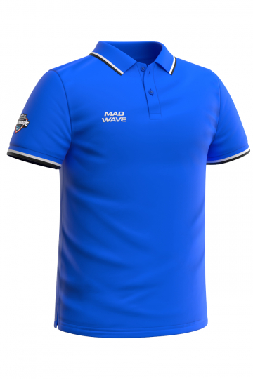 Спортивная футболка SOLIDS Men PoloФутболки<br>Мужская футболка-поло с коротким рукавом. Приталенный силуэт.<br><br>Размер INT: L<br>Цвет: Синий