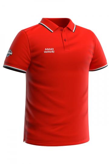 Спортивная футболка SOLIDS Men PoloФутболки<br>Мужская футболка-поло с коротким рукавом. Приталенный силуэт.<br><br>Размер INT: M<br>Цвет: Красный