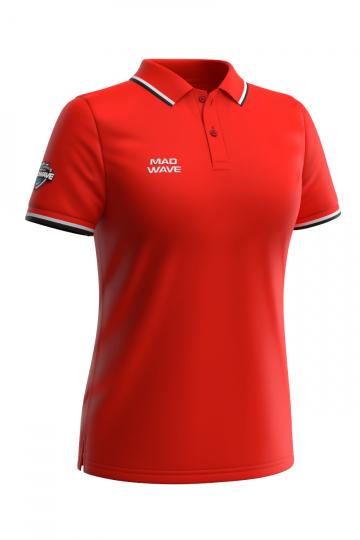 Спортивная футболка SOLIDS Women PoloФутболки<br>Женская футболка-поло с коротким рукавом. Приталенный силуэт.<br><br>Размер: M<br>Цвет: Красный