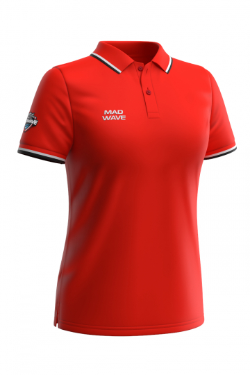 Спортивная футболка SOLIDS Women PoloФутболки<br>Женская футболка-поло с коротким рукавом. Приталенный силуэт.<br><br>Размер INT: L<br>Цвет: Красный
