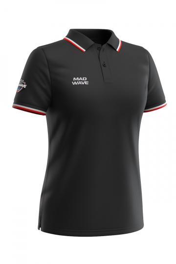 Спортивная футболка SOLIDS Women PoloФутболки<br>Женская футболка-поло с коротким рукавом. Приталенный силуэт.<br><br>Размер INT: XL<br>Цвет: Черный