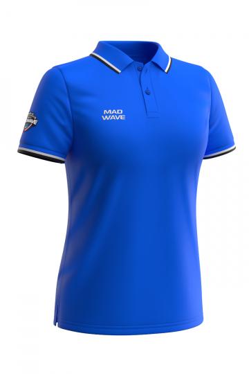 Спортивная футболка SOLIDS Women PoloФутболки<br>Женская футболка-поло с коротким рукавом. Приталенный силуэт.<br><br>Размер INT: XL<br>Цвет: Синий