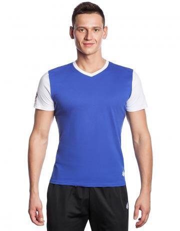 Спортивная футболка PRO Men T-shirtФутболки<br>Мужская футболка с коротким рукавом. V-образный вырез горловины. Приталенный силуэт.<br><br>Размер: XS<br>Цвет: Синий