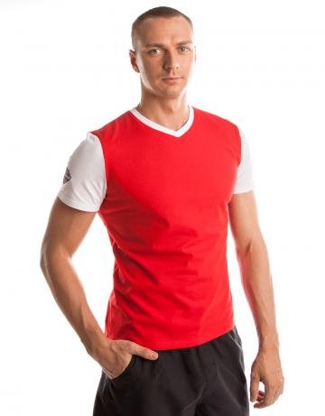 Спортивная футболка PRO Men T-shirtФутболки<br>Мужская футболка с коротким рукавом. V-образный вырез горловины. Приталенный силуэт.<br><br>Размер INT: XL<br>Цвет: Красный