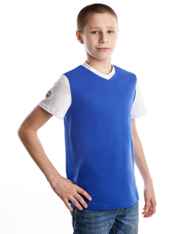 Спортивная футболка PRO Junior T-shirtФутболки<br>Юниорская футболка с коротким рукавом. V- образный вырез горловины.<br><br>Размер INT: L<br>Цвет: Синий