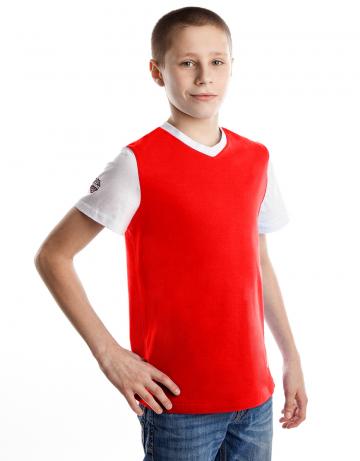 Спортивная футболка PRO Junior T-shirtФутболки<br>Юниорская футболка с коротким рукавом. V- образный вырез горловины.<br><br>Размер INT: XL<br>Цвет: Красный