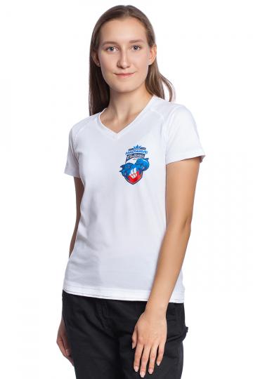 Спортивная футболка MW Challenge WomenФутболки<br>Женская футболка с коротким рукавом. V - образный вырез горловины. Приталенный силуэт.<br><br>Размер INT: XS<br>Цвет: Белый