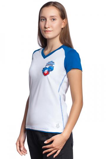 Спортивная футболка MW Challenge WomenФутболки<br>Женская футболка с коротким рукавом. V - образный вырез горловины. Приталенный силуэт.<br><br>Размер INT: L<br>Цвет: Синий