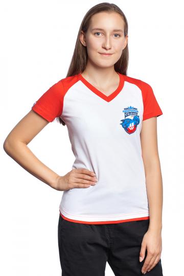 Спортивная футболка MW Challenge WomenФутболки<br>Женская футболка с коротким рукавом. V - образный вырез горловины. Приталенный силуэт.<br><br>Размер INT: XL<br>Цвет: Красный