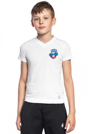 Спортивная футболка MW Challenge juniorФутболки<br>Юниорская футболка с коротким рукавом. V - образный вырез горловины.<br><br>Размер INT: XS<br>Цвет: Белый