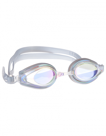 Тренировочные очки для плавания Techno Mirror IIТренировочные очки<br>Удобные очки TECNHO II от Mad Wave отлично послужат прекрасным дополнением к частым тренировкам в бассейне. Превосходная посадка, обеспеченная высоким обтюратором и двойным силиконовым ремешком, надежно защитит глаза от протекания и повысит комфорт в использовании. Зеркальные линзы с защитой от ультрафиолета UV 400 и покрытием от запотевания Антифог.<br><br>Цвет: Серебро