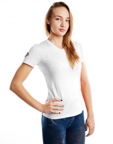 Спортивная футболка PRO Women T-shirtФутболки<br>Женская футболка с коротким рукавом. V-образный вырез<br>горловины. Приталенный силуэт.<br><br>Размер INT: XL<br>Цвет: Белый