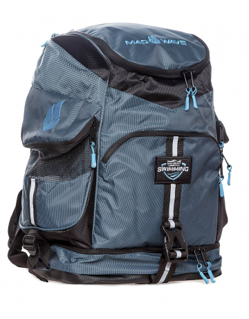 Рюкзак сумка для бассейна MAD TEAMРюкзаки и сумки<br>Большой внутренний отсек даст вам возможность с легкостью упаковать все необходимое вплоть до крупного инвентаря, а также разместить ноутбук (до 15') в специально предназначенном для этого кармане. Вместительные боковые вентилируемые карманы позволят без труда отделить мокрые вещи от сухих. Для максимального удобства в использовании рюкзак оснащен дополнительными отсеками – вентилируемым отсеком для обуви (вместительность до 2-х пар), а также карманами, в которых удобно хранить очки для плавания и различные медиаустройства. Благодаря особой, эргономичной конструкции задней стенки и наличию мягких, воздухопроницаемых подушек рюкзак Mad Team удобно носить на плечах продолжительное время.<br>ВНИМАНИЕ! Не кладите ноутбук в один отсек вместе с влажными вещами!<br><br>ОСОБЕННОСТИ:<br><br><br> Огромная вместительность - в рюкзак с легкостью помещается крупный инвентарь, такой как доски для плавания, колобашки или ласты;<br> Большие боковые карманы с вентиляцией  - позволяют без труда отделить мокрые вещи от сухих;<br> Отсек для обуви - в нижний вентилируемый отсек рюкзака Mad Team помещается до 2-х пар обуви или даже пара коротких тренировочных ласт;<br> Карабин - многофункциональный карабин позволит с легкостью закрепить рюкзак на вешалке.<br><br>Размер: 52х32х23 см<br>Цвет: Серый