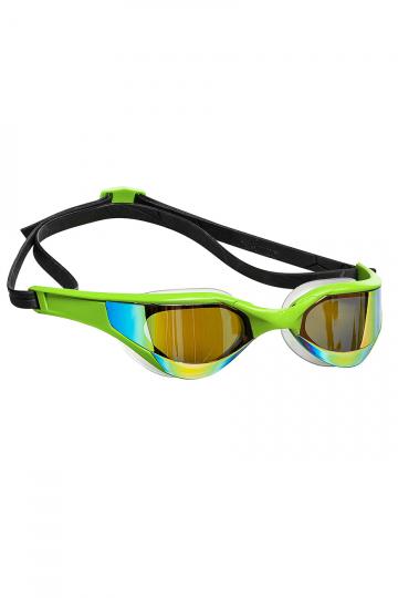 Тренировочные очки для плавания RAZOR RainbowТренировочные очки<br>Очки RAZOR сочетают в себе агрессивный дизайн профессиональных стартовых очков Mad Wave, а также удобство лучших очков для фитнес плавания. Широкий и мягкий обтюратор минимизирует нагрузку на глаза, а инновационная эргономичная конструкция обеспечит превосходную посадку и удобство в использовании. Линзы с защитой от ультрафиолета и покрытием от запотевания Антифог.<br><br>Цвет: Зеленый