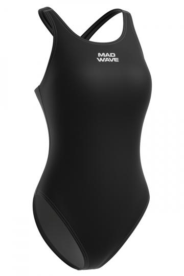 Спортивный купальник для плавания AFRAСпортивные купальники<br>Купальник спортивный слитный с кроем спины Closed Back. Закрытая спина создает удобство на старте. Вырез бедра средний. Серия ткани Base Xtra Life. Подходит для спортивных тренировок.<br><br>Размер: M<br>Цвет: Черный