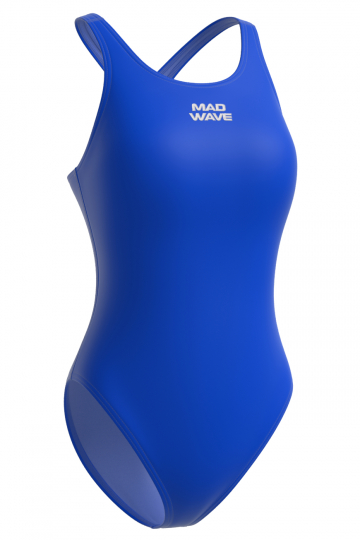 Спортивный купальник для плавания AFRAСпортивные купальники<br>Слитный спортивный купальник со средним вырезом бедра и закрытой спиной с кроем спины Closed Back, благодаря которому уменьшается сопротивление воды, повышается компрессия и не ощущается дискомфорт в движениях. Купальник изготовлен из ткани серии Base Xtra Life - очень эластичной ткани, обладающей повышенной устойчивостью к хлору, высокой износостойкостью и улучшенными компрессионными характеристиками. Купальники из этой ткани лучше облегают тело и сохраняют форму и цвет в 5-10 раз дольше, чем изделия с обычной лайкрой.  <br>Модель подойдет для регулярных спортивных тренировок.<br><br><br>ОСОБЕННОСТИ:<br><br><br>Ткань BASE XtraLife - обладает повышенной устойчивостью к хлору, высокой износостойкостью и улучшенными компрессионными характеристиками;<br>Крой спины Closed Back  - закрытая спина, спортивный эргономичный крой создает гибкость в движении и комфорт при использовании;<br> Средний вырез бедра  - подходит для любого типа фигуры, обеспечивает комфорт и свободу движений; <br>Однотонный купальник - классика, которая всегда в моде. В однотонных моделях купальников внимание акцентируется на достоинствах фигуры и фасоне купальника.<br><br>Размер INT: M<br>Цвет: Синий