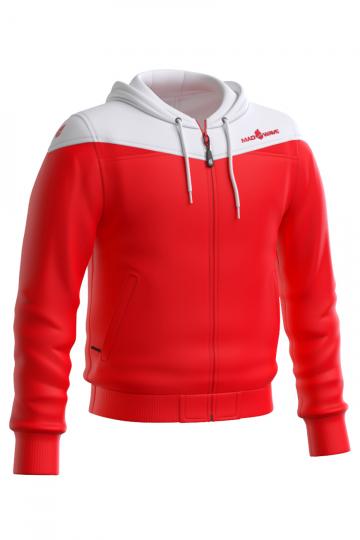 Спортивная толстовка куртка PROSМужские куртки и толстовки<br>Тренировочная куртка унисекс с капюшоном. застежка молния пластиковая. Вставки из сетки на капюшоне и в области рукавов, позволяют коже дышать. По низу куртки и рукавоводвойная резинка.<br><br>Размер INT: XXL<br>Цвет: Красный