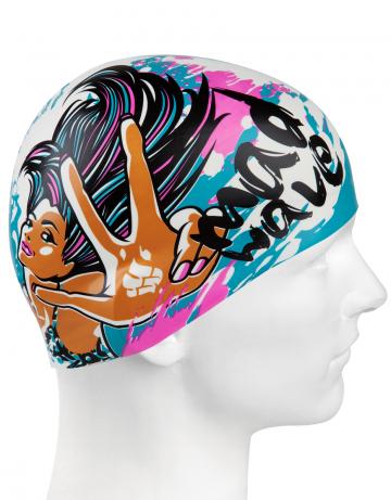 Юниорская силиконовая шапочка MAD GIRL