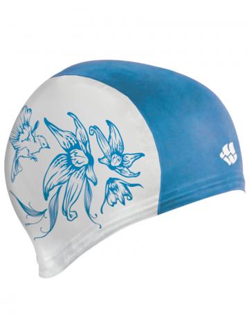 Резиновая шапочка BIRDРезиновые шапочки<br>Резиновая тренировочная шапочка с рисунком. Удобная и надежная посадка.<br><br>Цвет: Бирюзовый