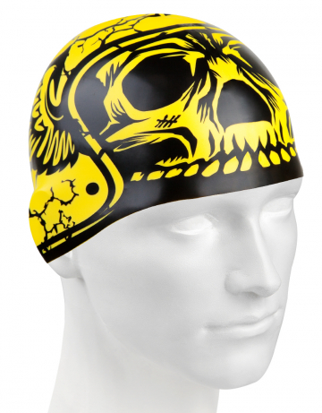 Силиконовая шапочка для плавания HARD HATСиликоновые шапочки<br>Силиконовая шапочка с рисунком.<br><br>Цвет: Желтый
