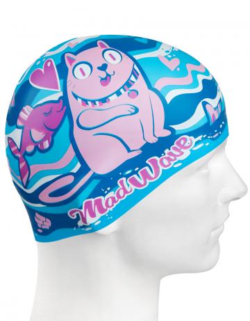Силиконовая шапочка для плавания CAT&amp;FISHСиликоновые шапочки<br>Детская силиконовая шапочка CAT&amp;FISH  - детская модель шапочки. Такая шапочка без сомнений понравится ребенку и сделает его заметным на воде издалека. Шапочка изготовлена из качественного силикона и подходит для всех видов занятий плаванием. Силикон - гипоаллергенный материал, не вызывает зуда и раздражения, а это особенно важно для чувствительной детской кожи. Шапочка сохраняет высокую эластичность и яркость на протяжении всего срока службы.<br><br>Цвет: Голубой