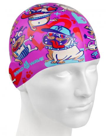Юниорская силиконовая шапочка DOGS