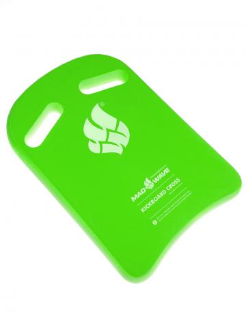 Доска калабашка Kickboard CrossДоски для плавания<br>Высококачественная доска для тренировок.  Специальные вырезы увеличивают плечо захвата и позволяют изменять позицию рук во время тренировок.<br><br>Размер: 38x27<br>Цвет: Зеленый
