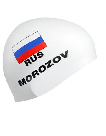 Силиконовая шапочка для плавания MOROZOVСиликоновые шапочки<br>Изготовление под заказ персональных шапочек с именами атлетов.<br>Условия:<br>-12 стандартных шапок (из каталога)-3300 руб.<br>-обязательное условие-наш логотип<br><br>Расчет стоимости:<br>90 руб-шапка+30 $за 1 (каждый) цвет в принте<br><br>Минимальный заказ -12 штук<br><br>Цвет: Белый