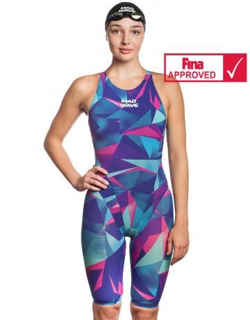 Женский стартовый костюм с открытой спиной Bodyshell Women Short Leg Fina Approved 2010