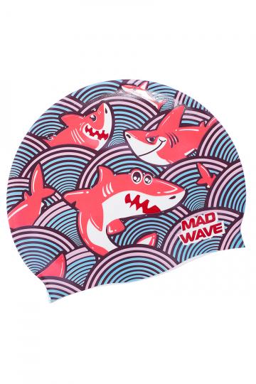 Юниорская силиконовая шапочка SHARKY