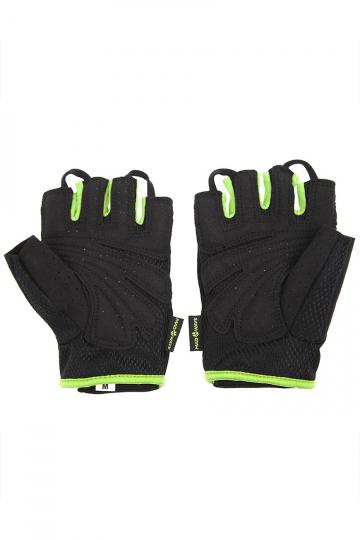 Фитнес тренажер Mens Training GlovesФитнес инвентарь<br>Перчатки для фитнеса сделаны из 100% полиэстера с функцией выведения пота наружу и быстрого высыхания MAD DRY. Область ладони покрыта синтетической кожей для лучшего сцепления с тренировочным оборудованием. В области ладони 4 миллиметровая прослойка для комфорта. Сетчатая структура ткани не препятствует вентиляции руки<br><br>Размер INT: L<br>Цвет: Зеленый