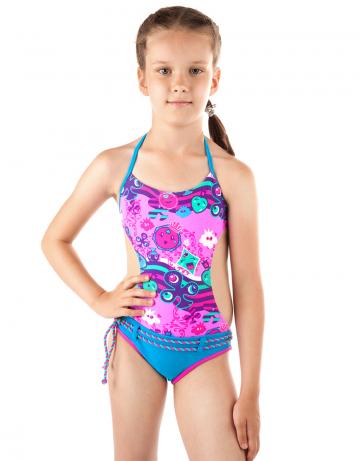 Детский пляжный купальник LovelyДетские пляжные купальники<br>Детский пляжный сплошной купальник Lovely имеет открытую спину. Купальник идеально подходит для купания и игр на пляже.<br><br>Размер: XS(5-6)<br>Цвет: Голубой