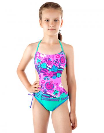 Детский пляжный купальник LovelyДетские пляжные купальники<br>Детский пляжный сплошной купальник Lovely имеет открытую спину. Купальник идеально подходит для купания и игр на пляже.<br><br>Размер RU: S(7-8)<br>Цвет: Зеленый