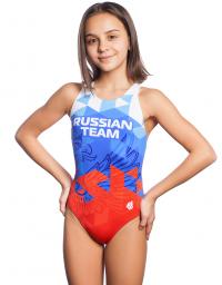 Юниорский купальник спортивный антихлор RUSSIAN TEAM