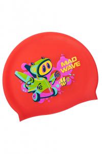 Юниорская силиконовая шапочка MAD BOT